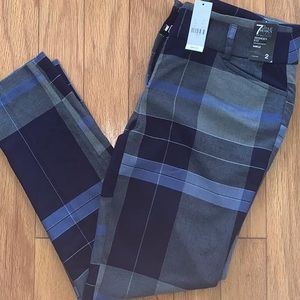 NY & CO PLAID SLACKS-  MODERN FIT, ANKLE